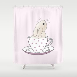 Little cup of fluff Shower Curtain