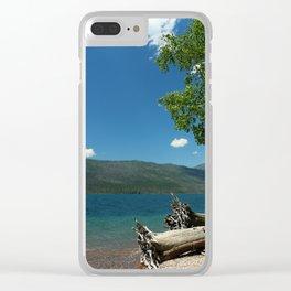 Serene McDonald Lake Clear iPhone Case
