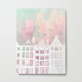 Amsterdam Netherlands Row Houses Metal Print