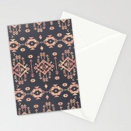 Trendy tribal geometric rose gold pattern Stationery Cards