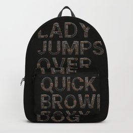 The quick brown foxy Lady - Steampunk Backpack