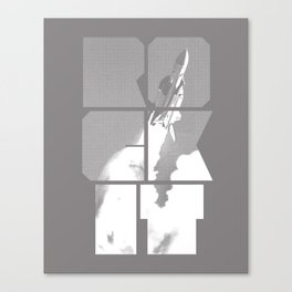ROCKIT (White on Grey) Canvas Print