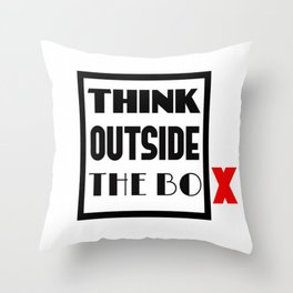Think Outside The Box 1 Throw Pillow