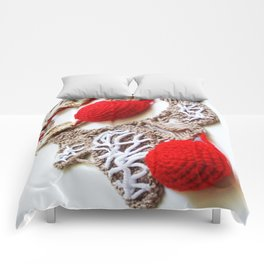 Red Cream Romanian Point Lace Photography  Comforters