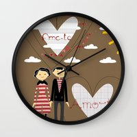 lovers Wall Clocks featuring Lovers by BruxaMagica_susycosta