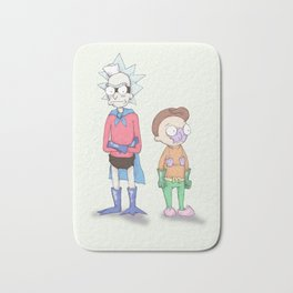 Mermaid Morty & Barnacle Rick Bath Mat