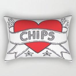 I Heart Chips Rectangular Pillow