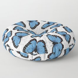 Blue morpho butterflies Floor Pillow