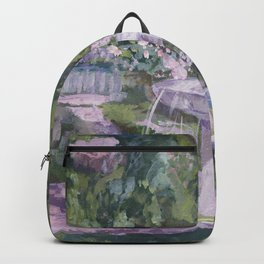 Spring garden, impressionist painting, Sorolla interpretation Backpack