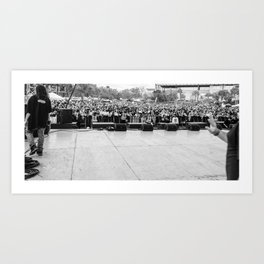 Crowd Shot from Backstage Art Print