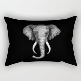 Elephant Head Trophy Rectangular Pillow