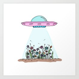 GROW OUT OF THIS WORLD Art Print