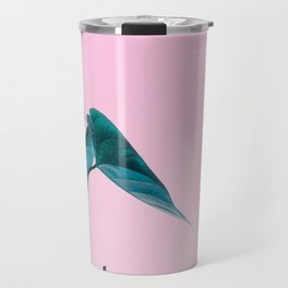 Pink Plant Travel Mug