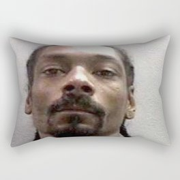 Snoop Dogg Mugshot #2 Rectangular Pillow