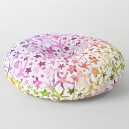 Rainbow Starfish Pattern Floor Pillow