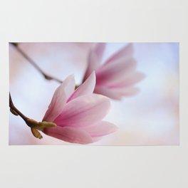 Magnolia flower macro 284 Rug