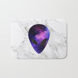 Galaxy Alien on Marble - tumblr trendy Bath Mat