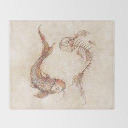 Yin Yang Fish Throw Blanket