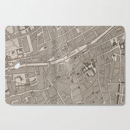 Vintage Map of Dublin Ireland (1764) Cutting Board