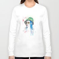 fear and loathing Long Sleeve T-shirts featuring Fear and Loathing by Becca Douglas