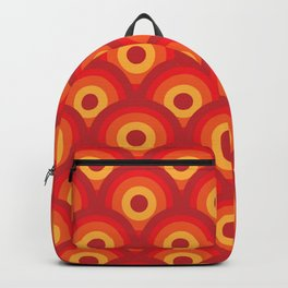 Retro Colorful Circles Pattern Backpack