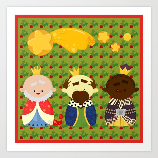 Three Kings (Reyes Magos) Art Print