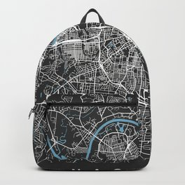 Nashville Map Tennessee | Black & Blue II | More Colors, Review My Collections Backpack