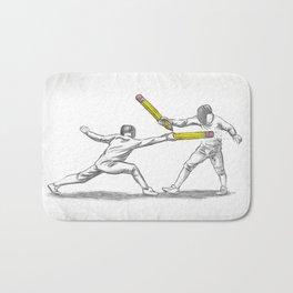 Parry Thrust Pencil Erase Bath Mat