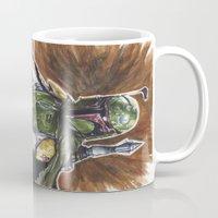 boba fett Mugs featuring Boba Fett by KristinMillerArt