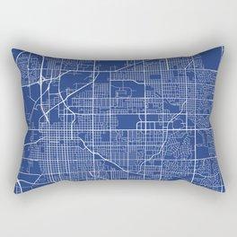 Lincoln Map, USA - Blue Rectangular Pillow