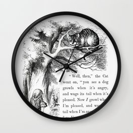 The Cheshire Cat Wall Clock