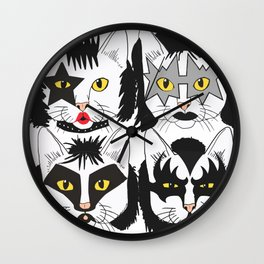 Cat Kiss Wall Clock