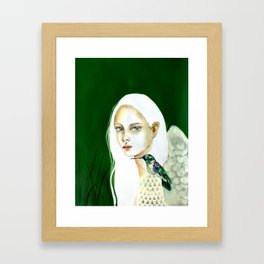 The message of the hummingbird Framed Art Print