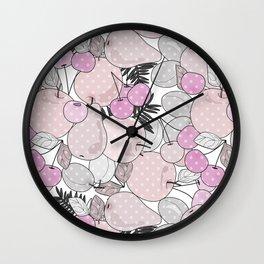 Fruit market 2 Retro . Wall Clock