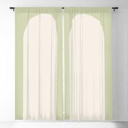 Minimal Arch - Soft Green Blackout Curtain