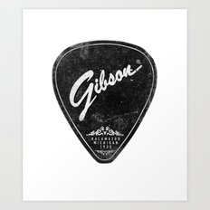 Legendary Guitar Pick Art Print