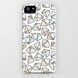 Polygonal stones and gemstones iPhone Case