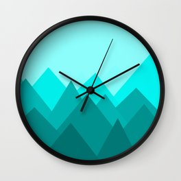 Simple Montains Wall Clock