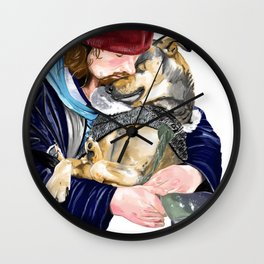 Humanity is love Wall Clock