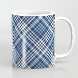 Navy Blue Plaid Coffee Mug
