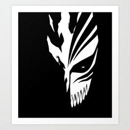 Bleach- Ichigo Kurosaki Hollow Mask Art Print