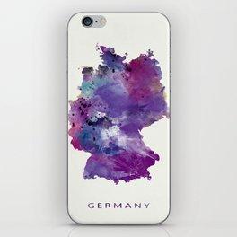 Germany Map iPhone Skin