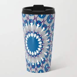HORN PRINT blue Travel Mug