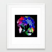 afro Framed Art Prints featuring Afro by SmartyArt Chick