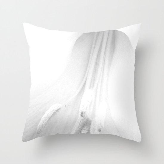 untitled white Throw Pillow