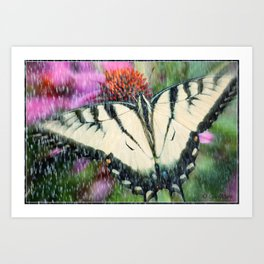 Rain and Butterfly Art Print