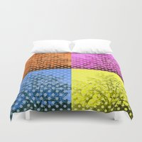 popart Duvet Covers featuring Autum popart by healinglove by Healinglove art products