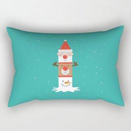 Day 11/25 Advent - Holiday Totem Rectangular Pillow