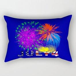 America 4th of July Fireworks Rectangular Pillow