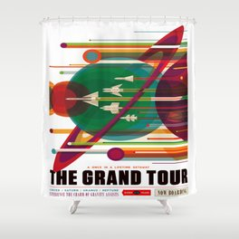 The Grand Tour Shower Curtain